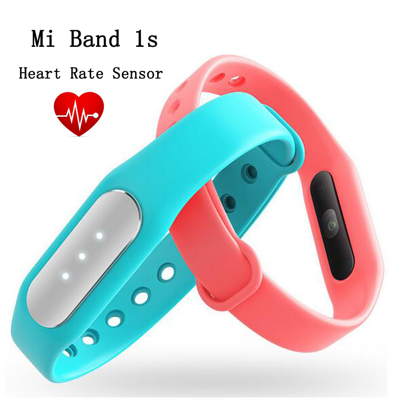 Original Xiaomi Mi Band 1S Heart Rate Sensor Smart Wristband Miband Bracelet For Android 4.4 iOS 7.0 Passometer Fitness Tracker