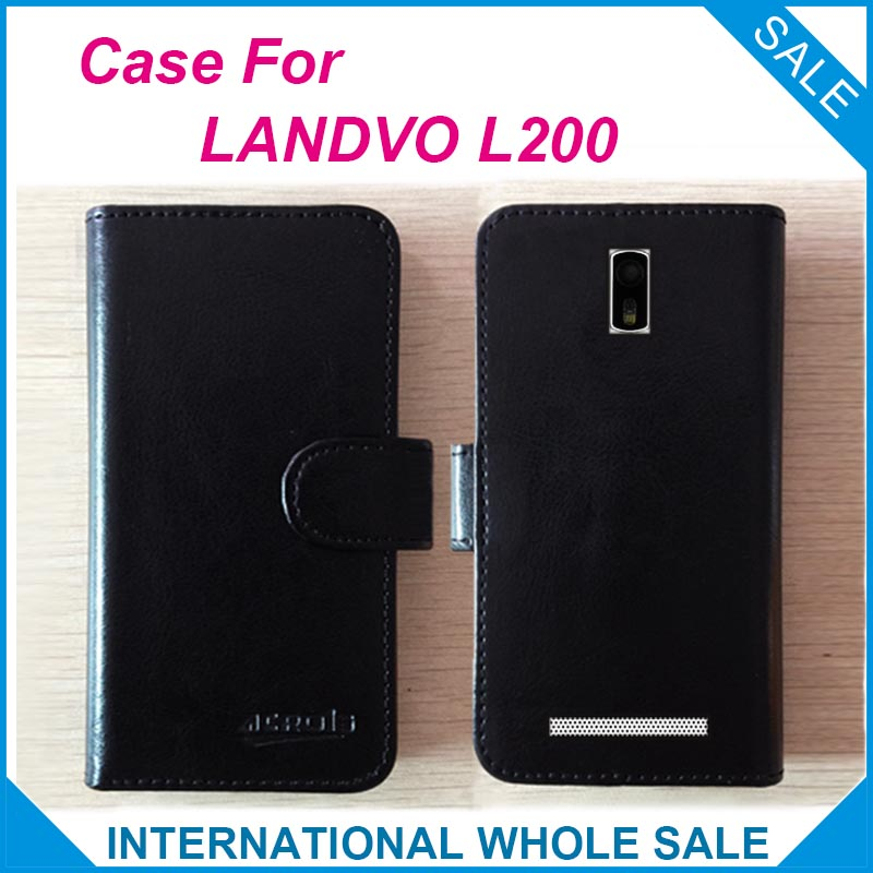 Hot! Stock LANDVO L200 L200S Case New 2016 items Factory Price Flip Leather Exclusive - lin-go's store