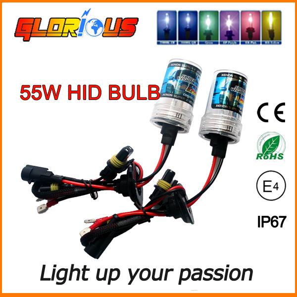 2 Pcs 55W AUTO HID xenon bulb H1 H3 H7 H11 H8 H9 HB3 HB4 9005 9006,xenon h7 4300k(China (Mainland))