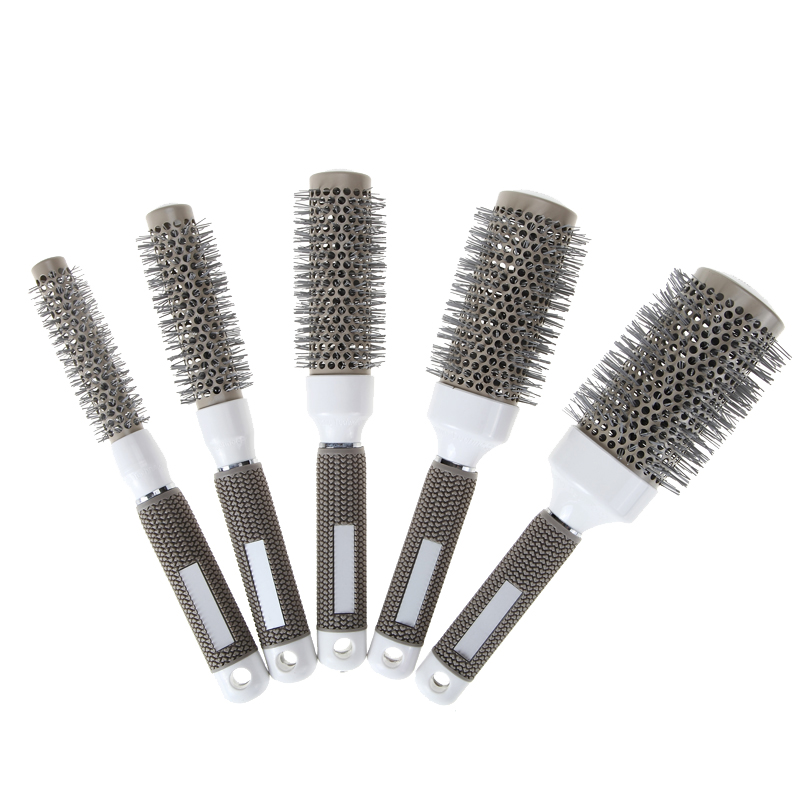 5 sizes durable ceramic ionic round comb barber hair for Salon hair brushes