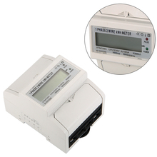 100A 60Hz AC power meter SO Electricity KWH Meter DIN Rail LCD BI105(China (Mainland))