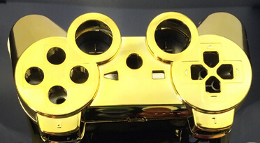 Custom gold golden color shell for PS3 Controller chrome gold golden Shell Mod Kit without small parts()