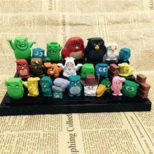 25pcs/lot Anime Movie Bird & Pig Action Figure Kids Toys Cute Colorful Birds PVC Action Figure