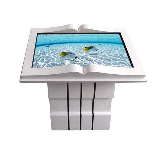 """55"""" inch stands all in one touchscreen PC advertising displays,library information inquiry touch screen book shape kiosk(China (Mainland))"""