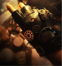 Harajuku Vintage Steampunk Gear Gloves PU Leather