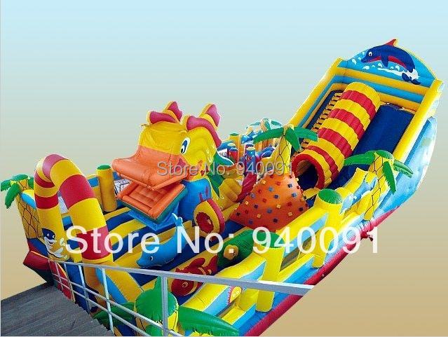 Manufacturers selling inflatable trampoline, inflatable castles, inflatable slide,Donald Duck big slide(China (Mainland))
