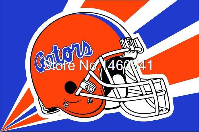 Florida Gators Helmet Flag 3ft x 5ft Polyester NCAA Banner Florida Gators Flying Size No.4 144* 96cm(China (Mainland))