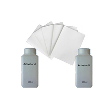 100ML/Bottle Activator A and B +10Pieces A4 Size Hydrographic Film, Activator For Water Transfer Printing Film Activator(China (Mainland))