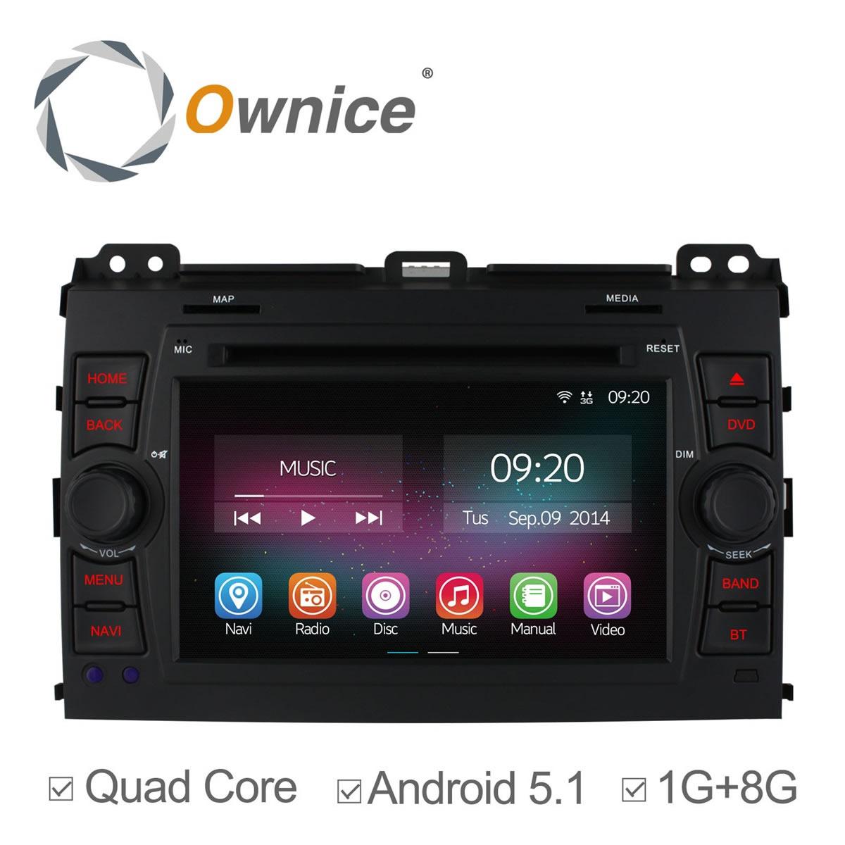 Android 5.1 Car DVD Player For Toyota Prado Land Cruiser 120 2002 2003 - 2009 Quad Core Radio GPS Navigation support 3g dvr obd(China (Mainland))
