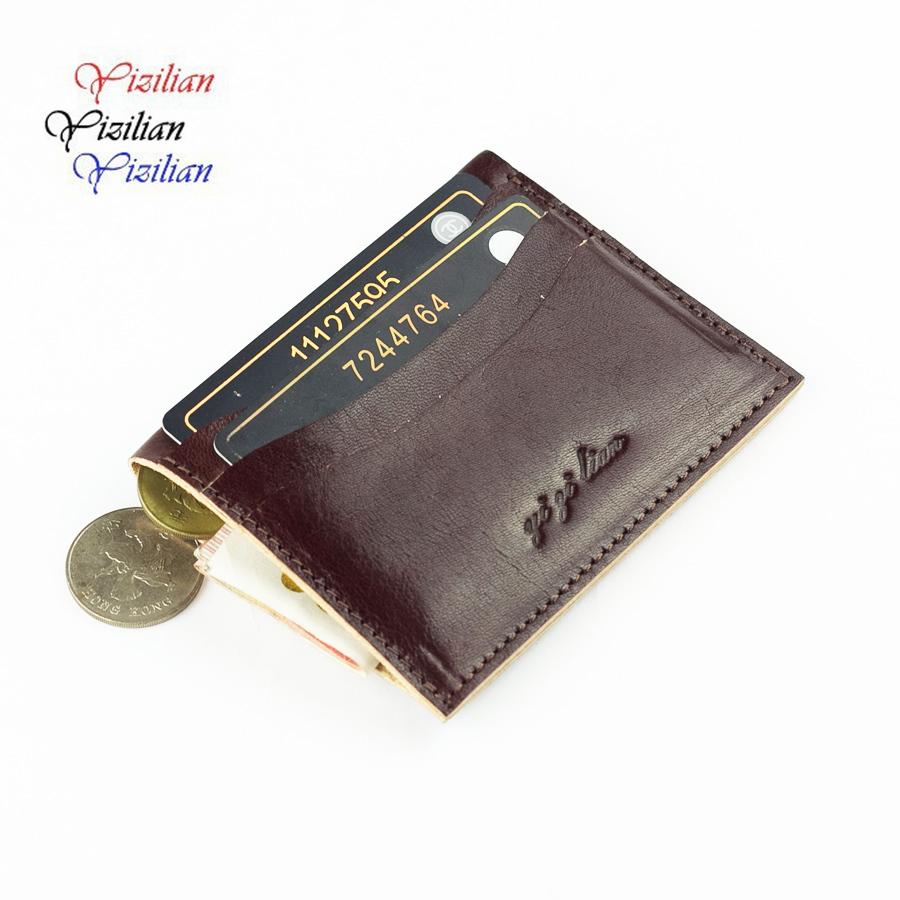 SAM men s leather credit card case bank card case credit Card Holder hot sale ID