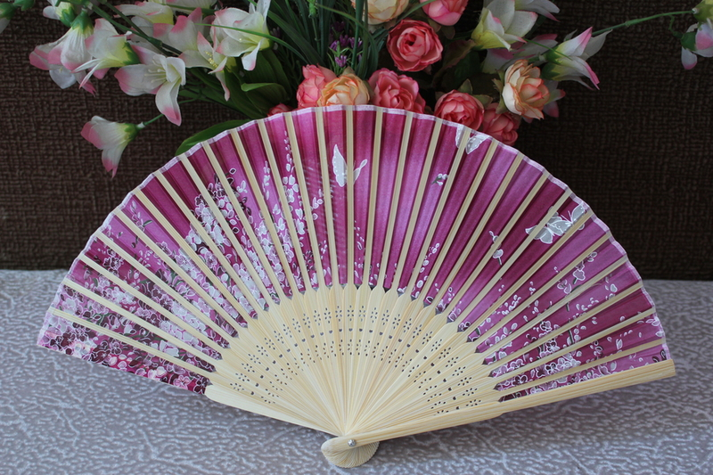 Free Shipping 50pcs/lot real silk fan,silk folding fan with top-grade quality for weddings or holidays