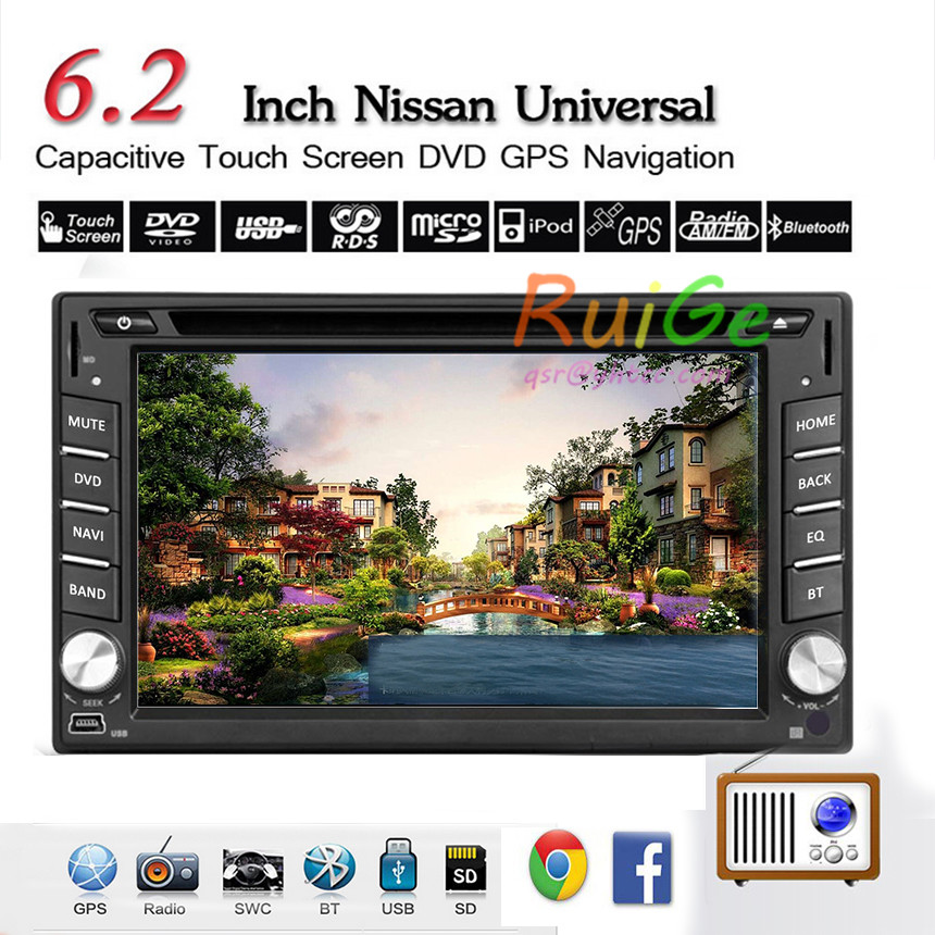 dual-core 6.2 inch 2 Din android car 4.2 fits NISSAN QASHQAI Tiida car audio stereo radio with gps-tv 3 g wi-fi dvd automotivo()