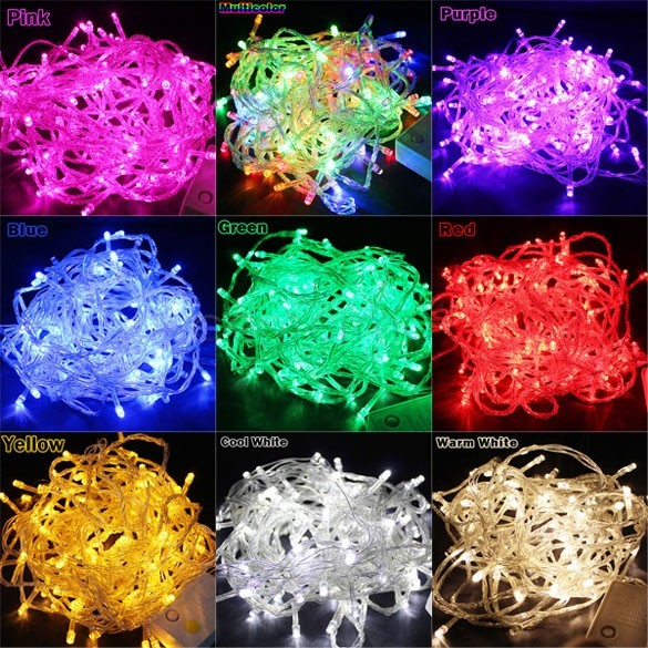 220V EU 10m/100leds led string light for Holiday Wedding Christmas, decoration for Party garland lighting led lights outdoor B26(China (Mainland))