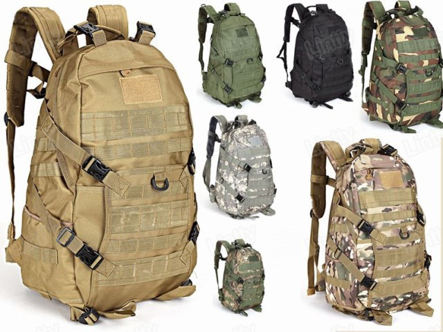 TAD 1000D Nylon Combat Molle Backpack 50L Tactical Camping Outdoors Travel Bags Multi colors