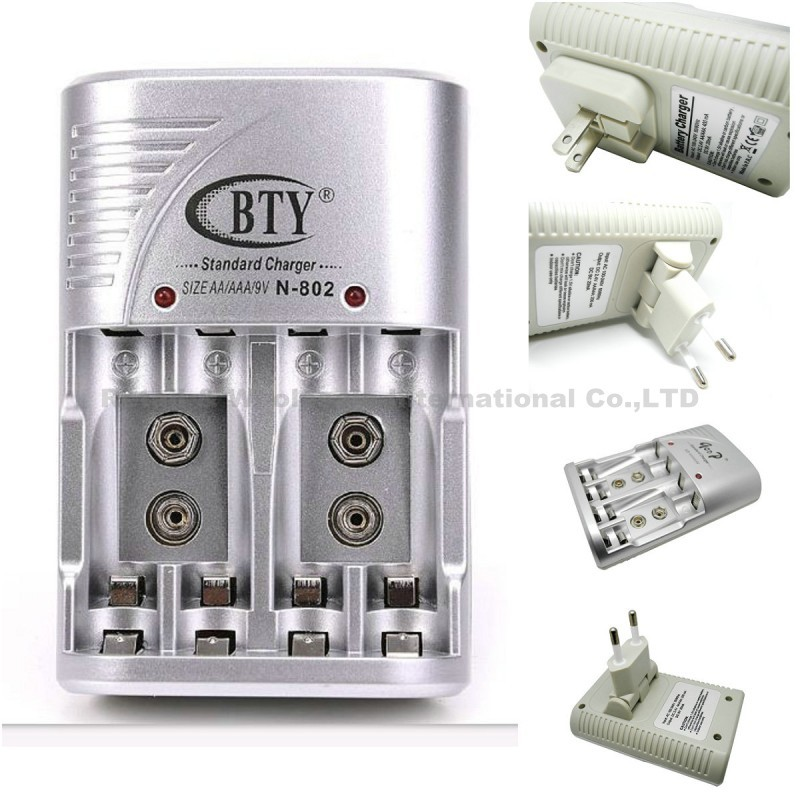 US/EU Plug High Performance Battery Charger Smart AA AAA Ni-MH Ni-Cd Rechargeable Battery BTY N802 Charger(China (Mainland))
