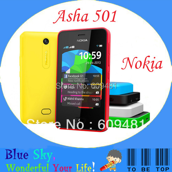 Original &Unlocked phone Dual SIM Nokia Asha 501 FM Radio MP3 Player Dual core Strong 4G included free shipping(China (Mainland))