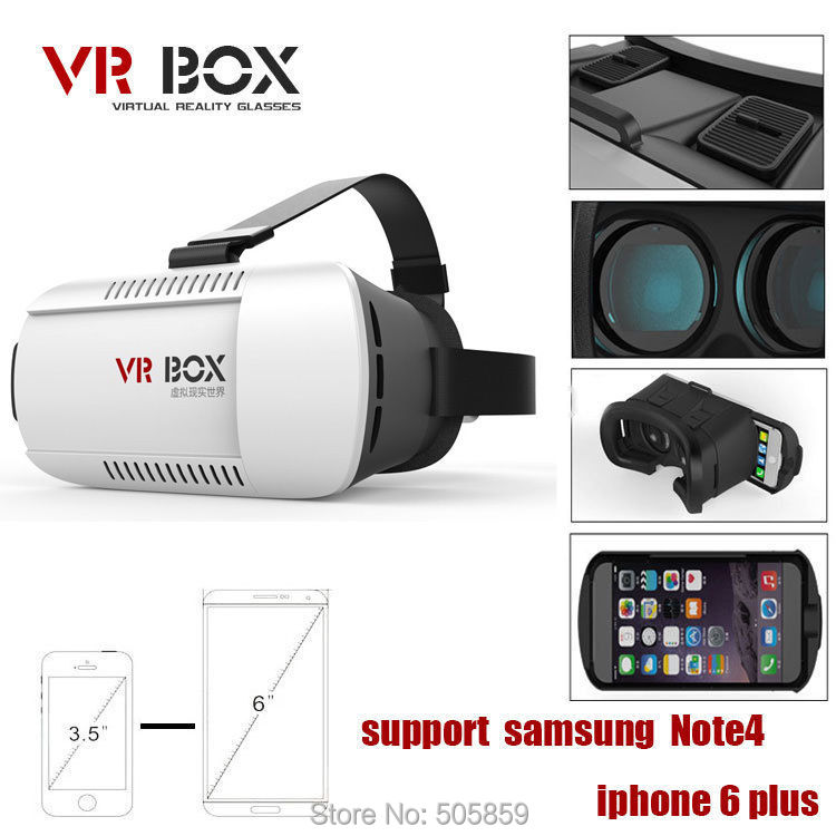 Universal Google Cardboard VR BOX 2 Virtual Reality 3D Glasses Game Movie 3D Glass For iPhone Android Mobile Phone Cinema(China (Mainland))