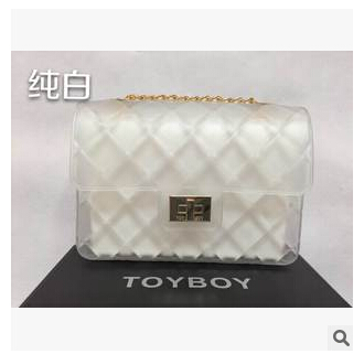 2015 latest summer TOYBOY sandwich bag silicone jelly shoulder bag(China (Mainland))