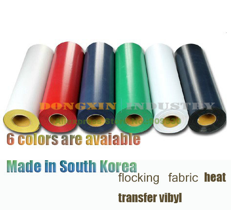 5M flocking fabric Heat Transfer vibyl T shirt heat transfer Film Cutting Plotter Film Made in South Korea(China (Mainland))