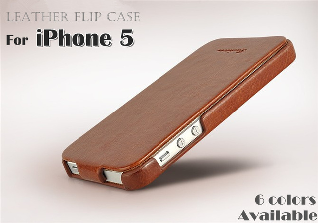 New Arrival Leather Case For iphone 5 High Quality Flip Case For Apple iPhone5 5G Cell Phone With Retail Package