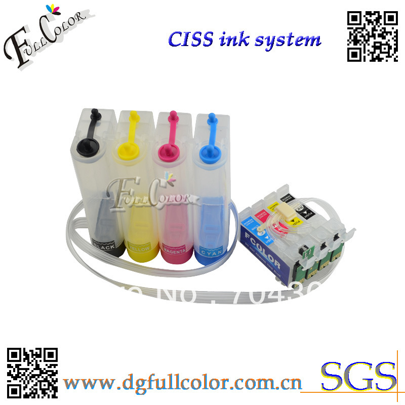 Free shipping  Wholesale sell 45set a lot  T1621 CISS ink system for epson workfroce WF-2010W inkjet printer