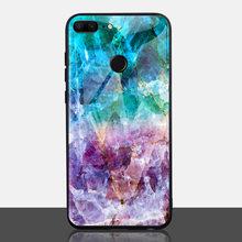 TOMKAS de mármol funda del teléfono para Huawei P20 Lite caso Honor 9 Lite de borde suave PC + trasera de vidrio de funda para Huawei P Smart(China)