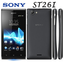 Sony Ericsson Xperia J ST26i ST26 Cell phone GPS Wi-Fi 5MP 4.0″ TFT Capacitive Touchscreen Android OS Free shipping