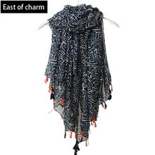 Beautiful!!Fashion Bohemian Style Summer Scarf Women Tassel Shawl and Scaves Wrap bufandas cachecol feminino Voile Scarf(China (Mainland))