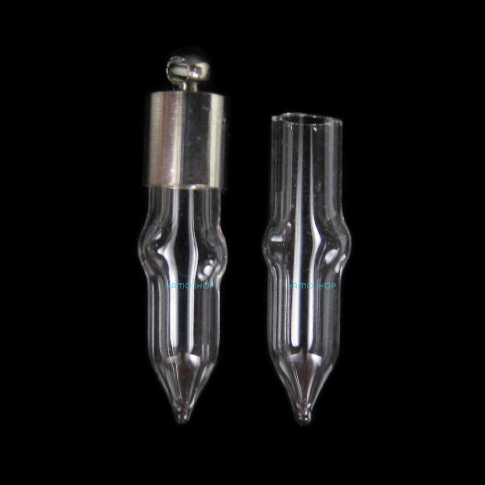 10pcs g1 blown glass small bottle sticky cap stopp blown glass bottle pendant