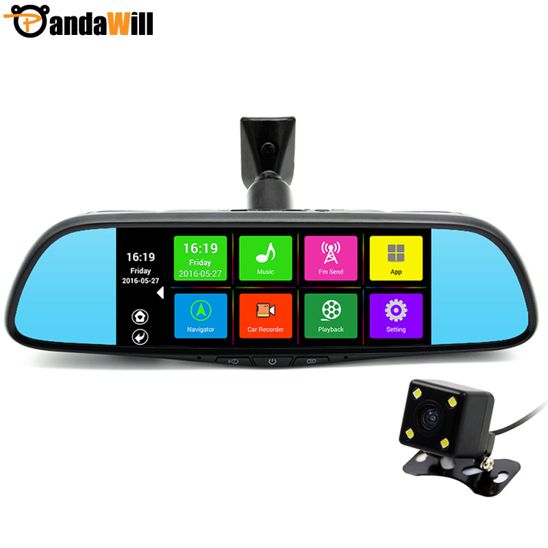 Special 7 inch Android Car GPS Navigation DVR Dual Lens Mirror Bluetooth 16GB FHD 1080p FM WIFI Sat nav Map Free Lifetime Update(China (Mainland))