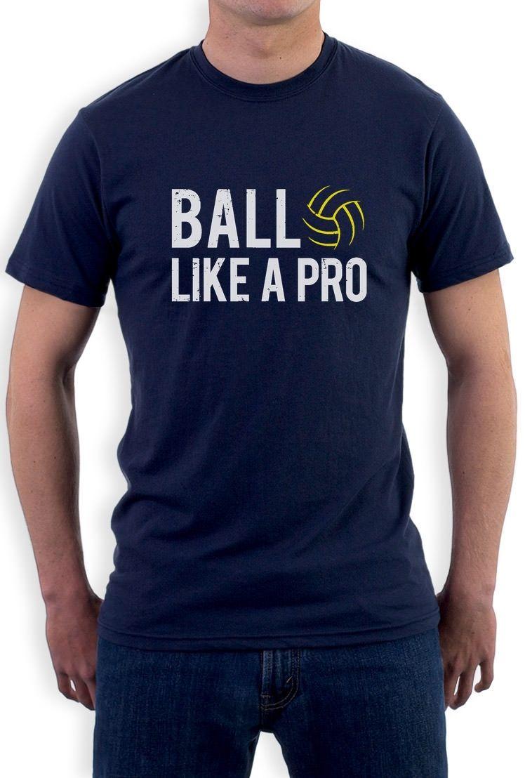 Volleyballer - Ball Like a Pro Best Gift for Volleyballer Fans T-Shirt Novelty Gift Casual Short Sleeve Shirt Tee(China (Mainland))