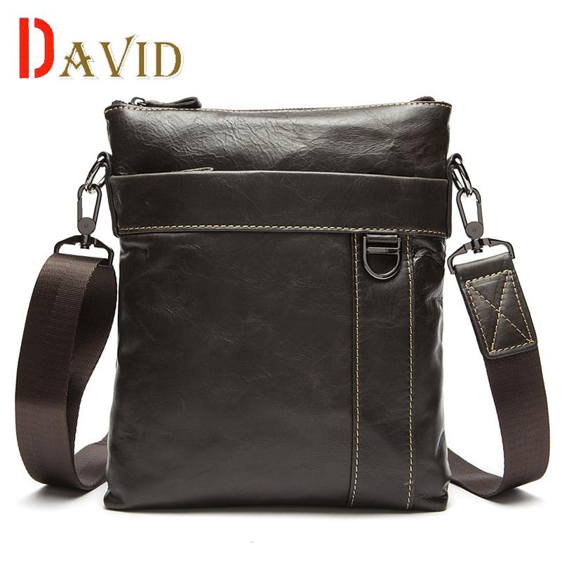 Genuine leather bag Men bag casual travel bag men's briefcase vintage men shoulder messenger bags famous brands dollar price(China (Mainland))