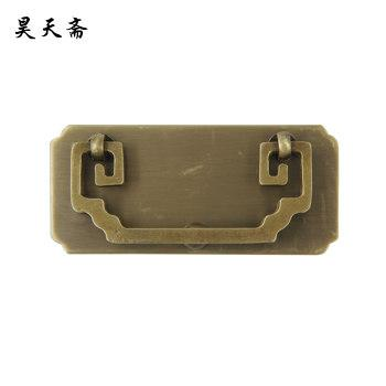 2016 Chinese antique copper drawer handle classic plain cabinet handle thickening funiture hardware HTD-186(China (Mainland))