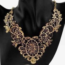 Vintage Jewelry Choker Bib Pendant Necklace Multi layers Necklce For Women Gold Plated fashion statement collar