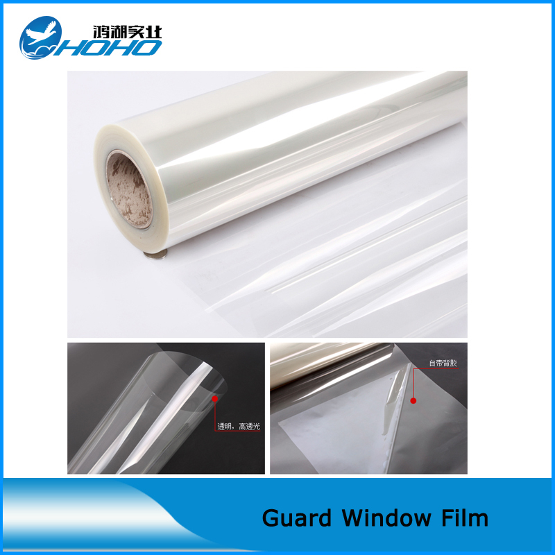 Building And Auto glass window protective film 1.52x20m Full car security window film PET safety film for glass(5ftx66ft)(China (Mainland))