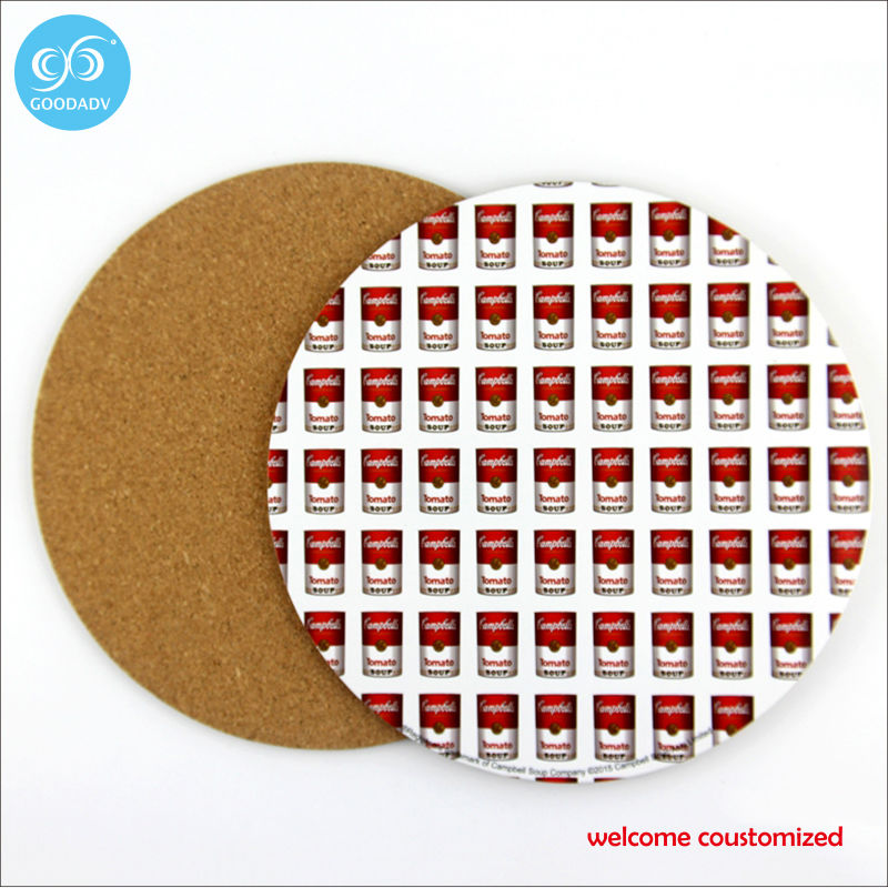 Round custom printing placemat coasters disc pads bowl pad pot dining table mat heat insulation pad(China (Mainland))
