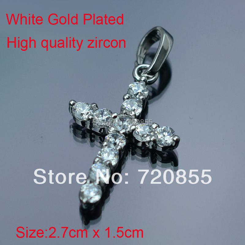 Silver Mini Zircon Cross Charm Pendant Necklace,Wholesale prices,Fashion Crucifix Jewelry Jesus Christianity Women Girl Children(China (Mainland))