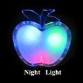 Beautiful Colorful LED Apple Night Light US Plug Bedside Lamp LED Energy saving Wall Lamp