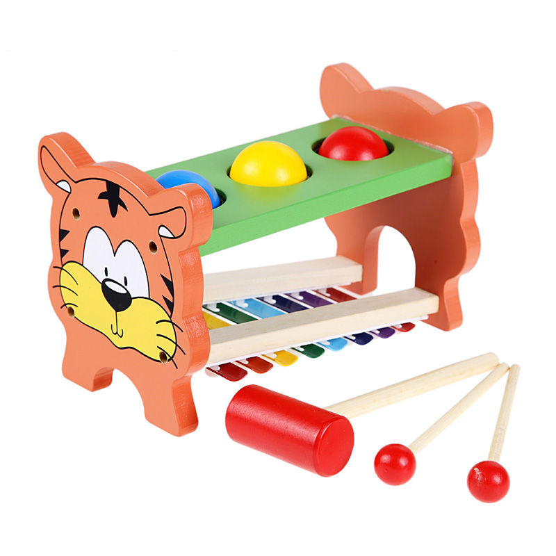 Multifunctional knock piano Wooden 8 sounds knock tables early childhood educational toys FCI#(China (Mainland))