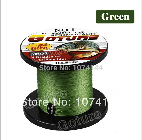 500M Goture Brand Super Strong Japan Multifilament PE Braided Fishing Line 8 10 20 30 40 60LB(China (Mainland))