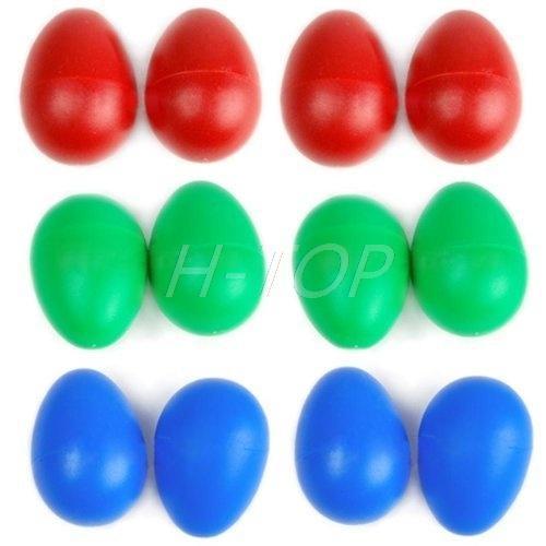 [해외]1 쌍의 플라스틱 타악기 셰이커 뮤지컬 달걀 임의의 색상 E7..