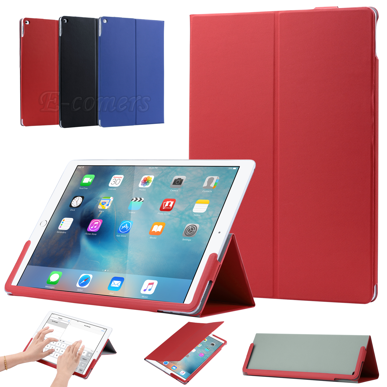 ULAK Stand Slim Folio Cover Premium PU Leather Case for Apple iPad Pro (12.9 inch) Tablet 2015 with Auto Wake/Sleep Feature(China (Mainland))