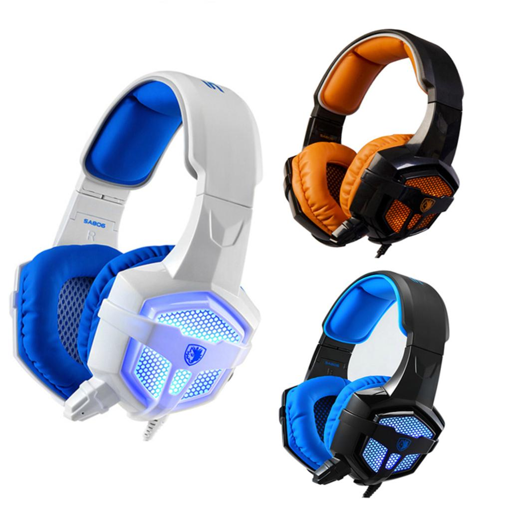 Original SADES SA-806 Professional Stereo PC Gaming Headset With Microphone Volumn Control LED Light 3.5mm Wired Headphone(China (Mainland))