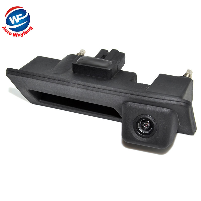 CCD HD Waterproof Car Runk Handle Parking Rearview Backup camera Case For Audi/VW/Passat/Tiguan/Golf/Touran/Jetta/Sharan/Touareg(China (Mainland))