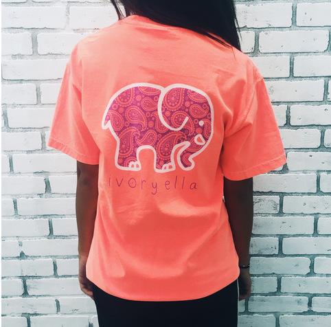 New 2016 Summer women Ivory Ella T-shirt Women Tops Tee Print Animal Elephant T Shirt Loose Short Sleeve Harajuku Tops C0210(China (Mainland))