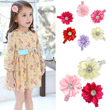 Buy 6pcs/lot Hot sale baby girl lovely flower hairpins kids hair clips children hair accessories for $1.49 in AliExpress store