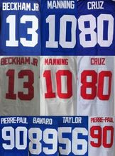 Shop Discount Mens High Quality 100% Stitched Color Blue White Jerseys(China (Mainland))