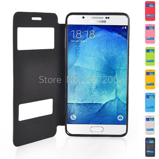 Flip Leather Hollow View Window Case Cover Stand Samsung Galaxy A8 - Tao Fashion store