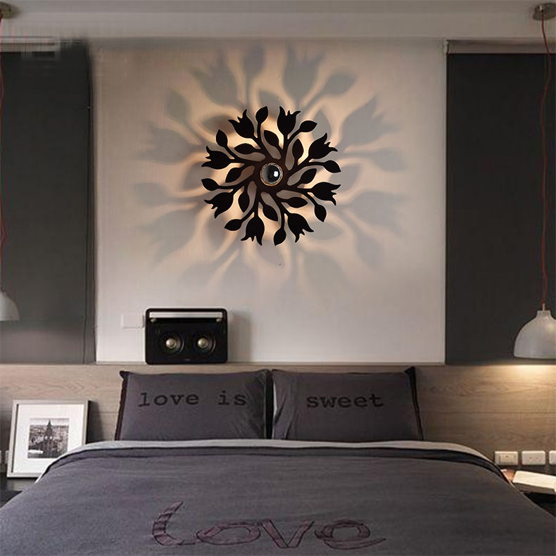 bedroom sconce shadow acrylic laser in wall lamps from lights