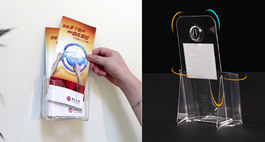 A6 Acrylic company manual display box office exhibition show label brochure leaflet holder display desktop wall hang rack<br><br>Aliexpress